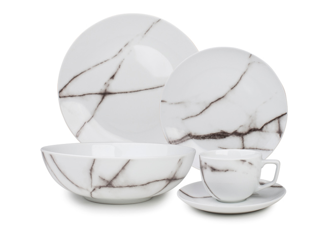 tafelservies 20-dlg marble Salt & Pepper